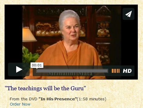 teachings will be the guru