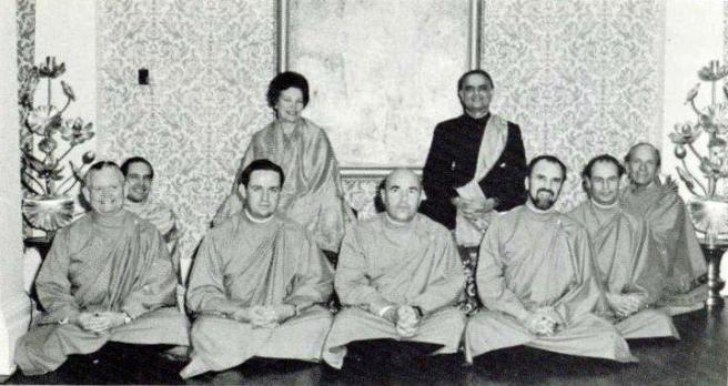 Br Premamoyji seated on extreme right behind Br. Anandamoyji