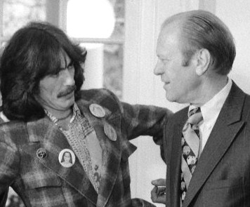 Gerald Ford Conversing with George Harrison and Organist