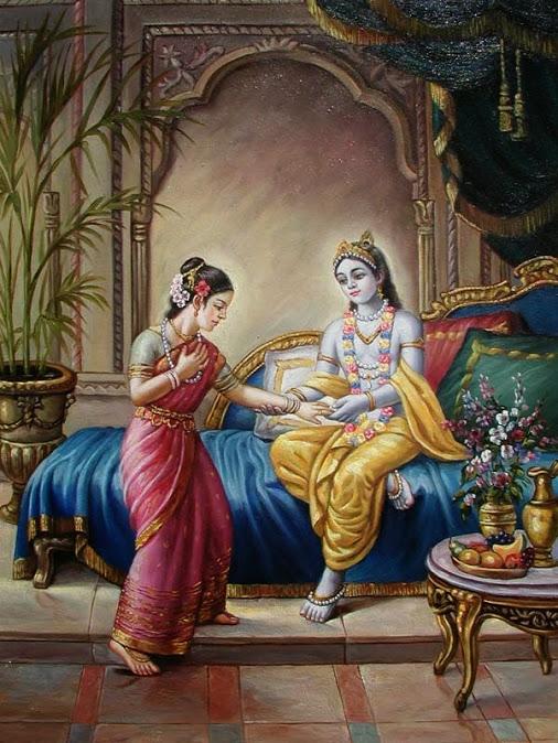 krishna heals trivaka