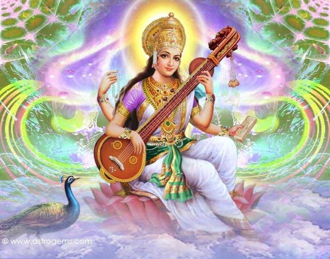 Hindu-Goddess-Of-Learning-Saraswathi-Devi